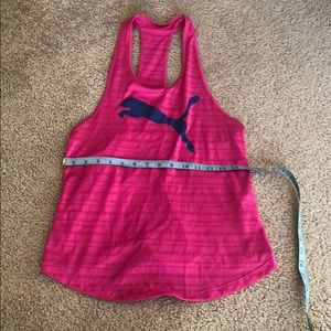 Puma pink and blue racerback workout top sz Small